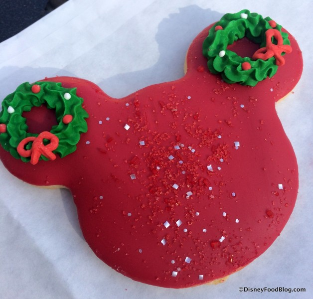 Holiday Mickey Cookie
