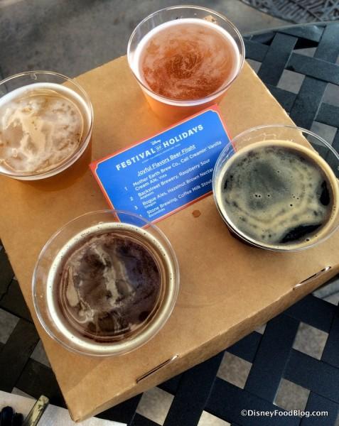 Joyful Flavors Beer Flight