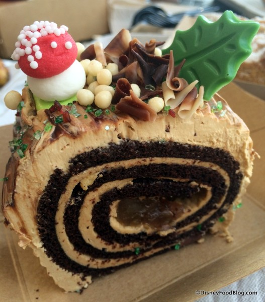 Mocha Yule Log with candied chestnuts