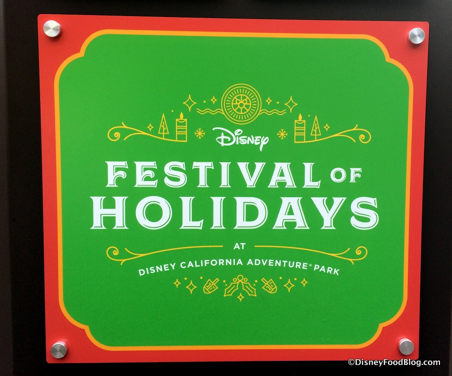 Disneyland Festival Of Holidays Food Booths