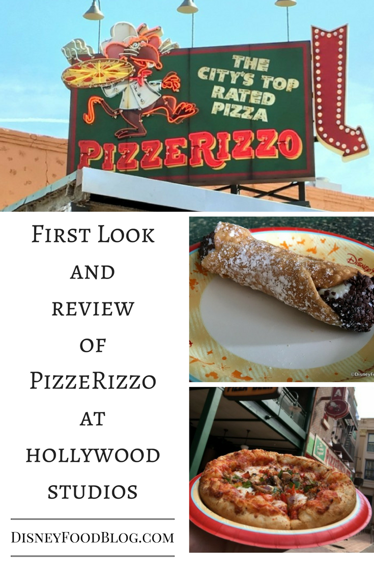 Get a first look and check out our review of PizzeRizzo in Hollywood Studios!