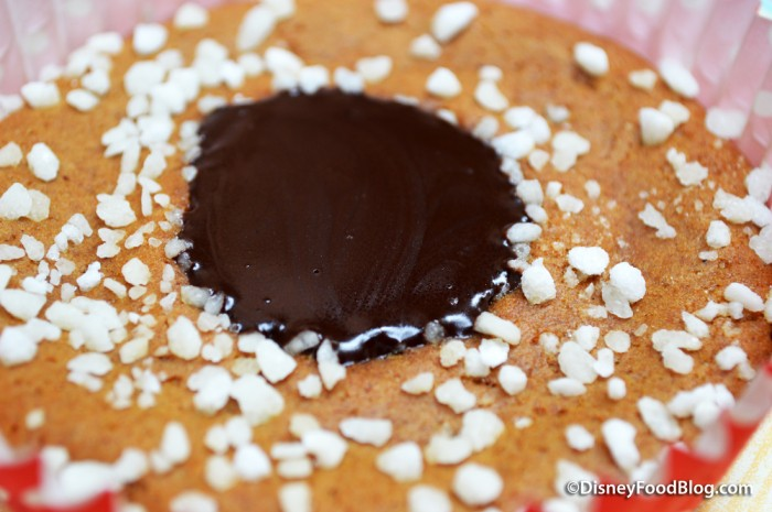 Gingerbread Almond Cookie -- Chocolate Center Topping
