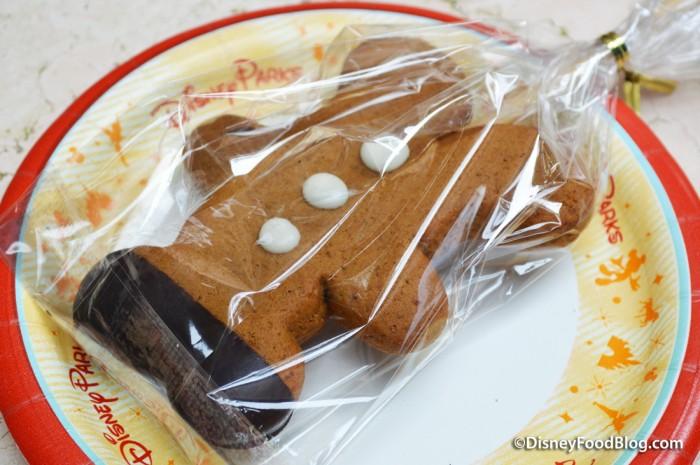 Gingerbread Mickey Cookie Pop