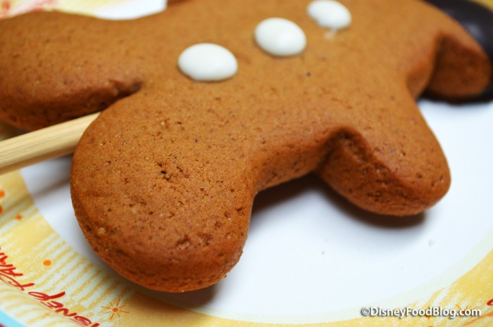 Gingerbread Mickey Cookie Pop -- Up Close