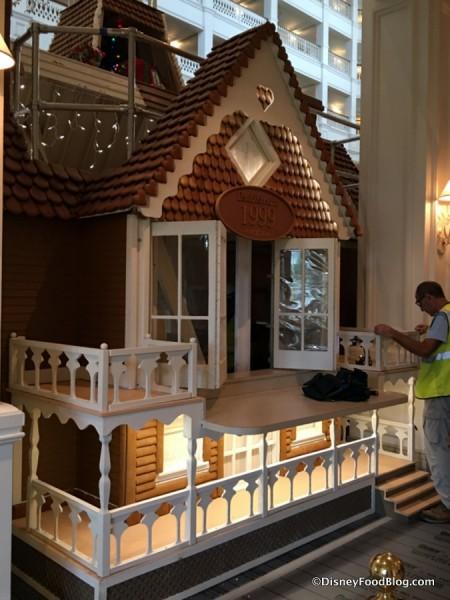 Gingerbread House underway