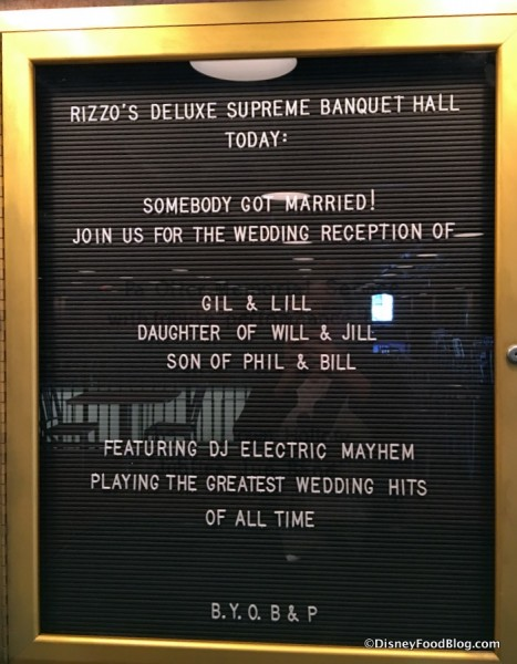 Deluxe Supreme Banquet Hall sign