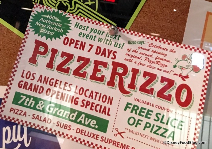 PizzeRizzo Coupon Advertisement