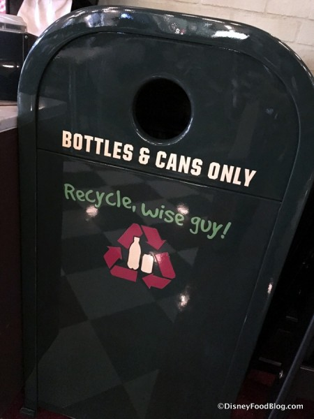 Trash Can at PizzeRizzo's