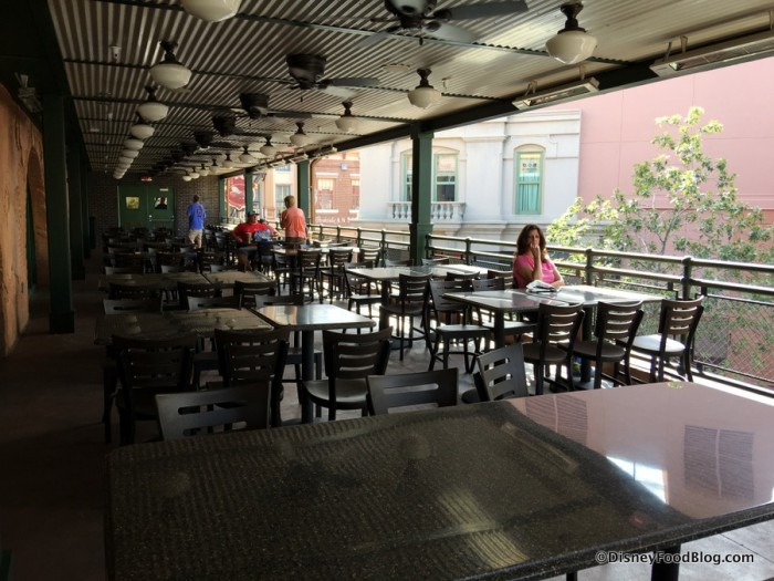 Upper Level Outdoor Seating