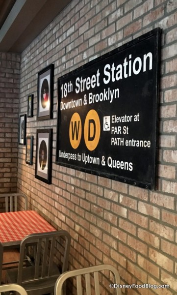 Old Streets of America Subway Sign