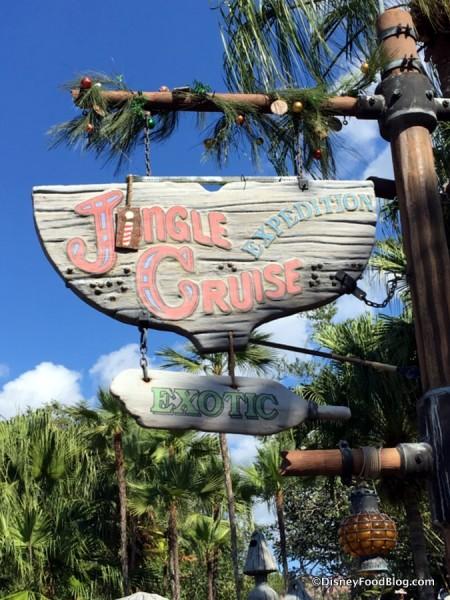 Jingle Cruise sign