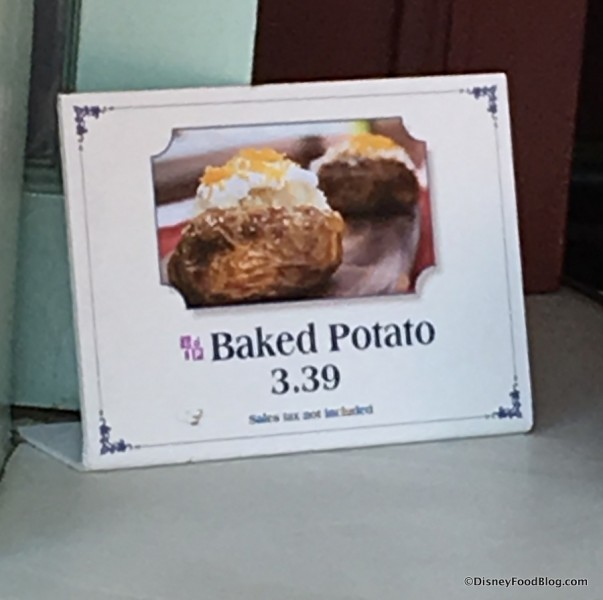 Baked Potato sign