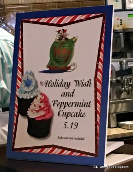 Holiday Cupcake Sign