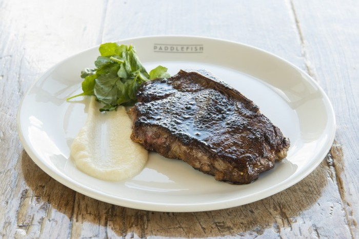 New York Strip with Cauliflower Puree  ©Paddlefish