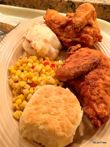 Fried Chicken dinner at The Plaza Inn, Disneyland