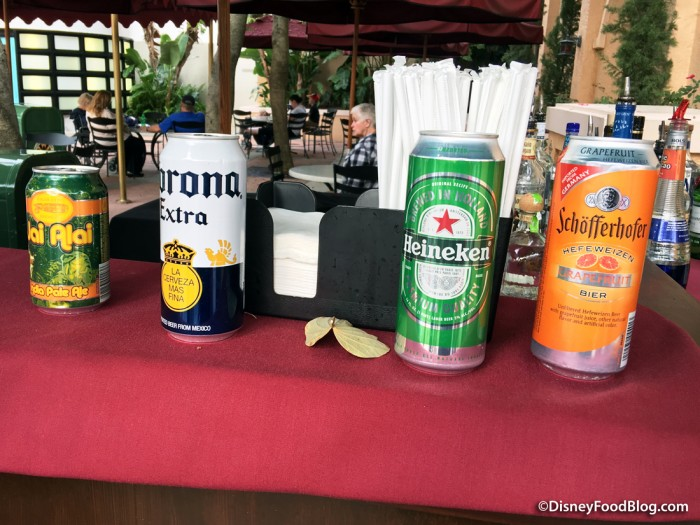Beer Selections at the Pop-Up Bar