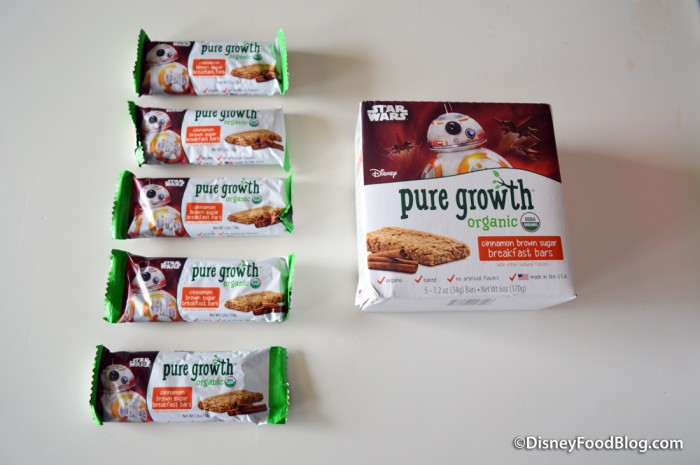 Pure Growth Organic Snacks cinnamon brown sugar breakfast bars