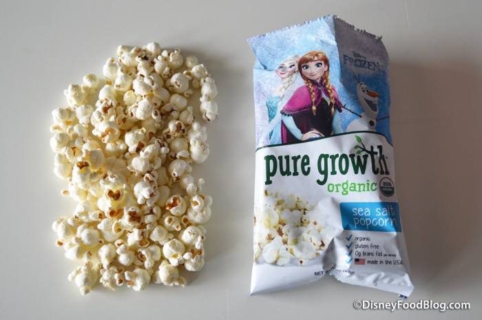 Pure Growth Organic Snacks popcorn