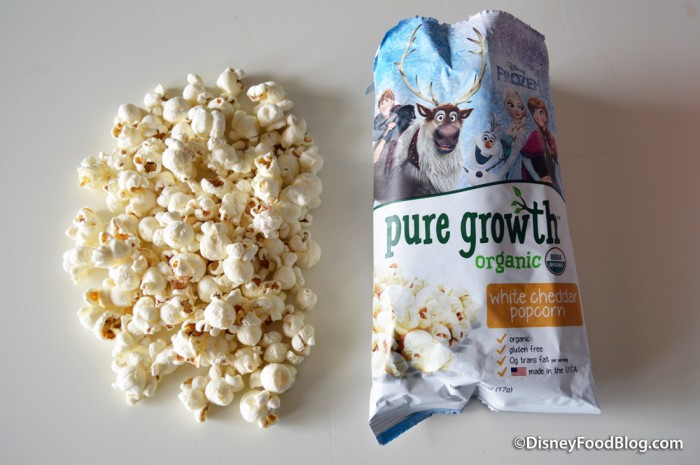 Pure Growth Organic Snacks white cheddar popcorn
