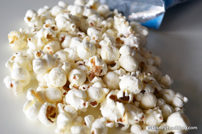 Close-up of white cheddar popcorn