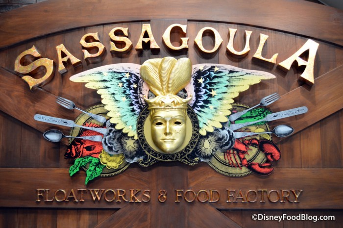 Sassagoula Floatworks & Food Factory Sign