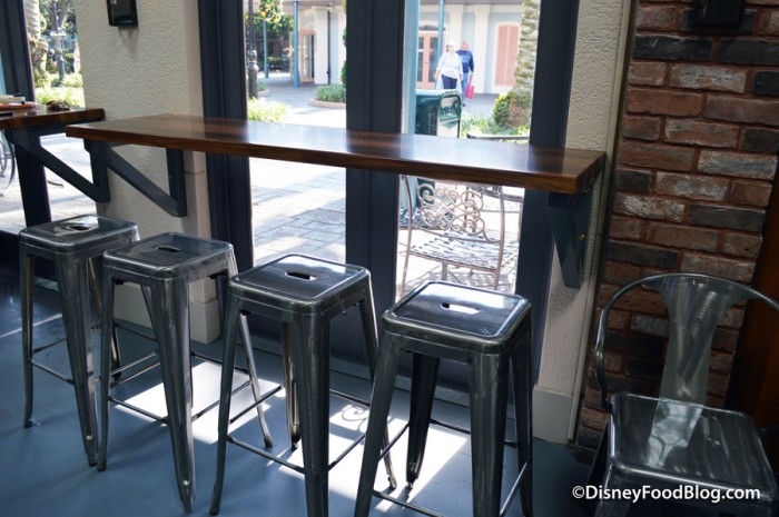 Ledge Table and Stools