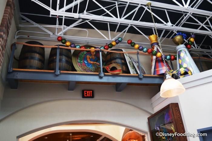 Mardi Gras Parade Props Near the Ceiling