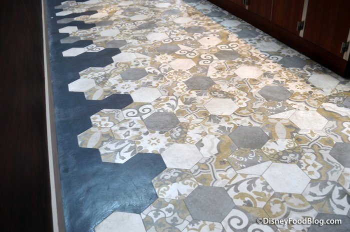 Tiles on floor by Beverage Bay