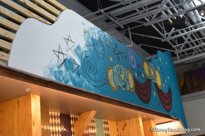 Artwork above Beverage Bay