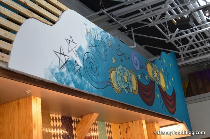 Artwork above Beverage Bay