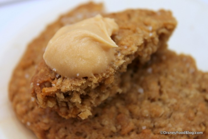 Salted Caramel Frosting on My Salted Oatmeal Cornflake Cookie