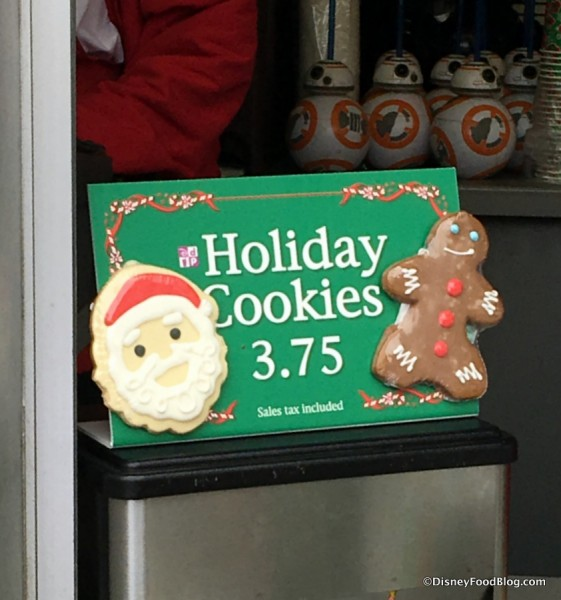 Holiday Cookies at Popcorn Stands