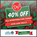 DFB Five Days of Giveaways Day 3: 40% Off the ENTIRE DFB Store!