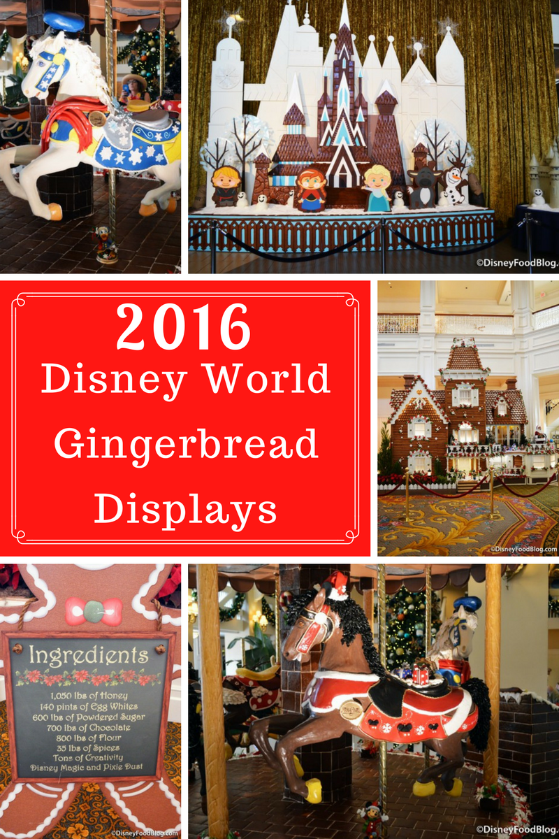 Take a look at the 2016 Walt Disney World Resort Gingerbread Displays and Treats!