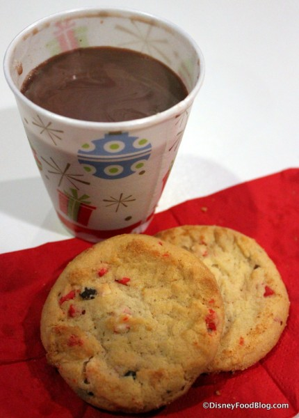 Hot Chocolate and Peppermint Bark Cookies
