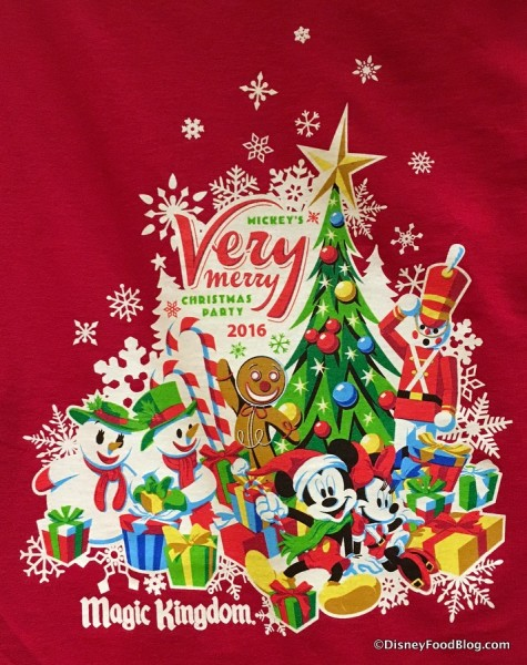 Mickey's Very Merry Christmas Party shirt design
