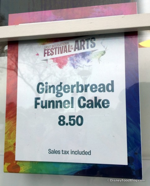Gingerbread Funnel Cake sign
