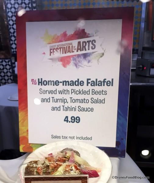 Home-made Falafel sign