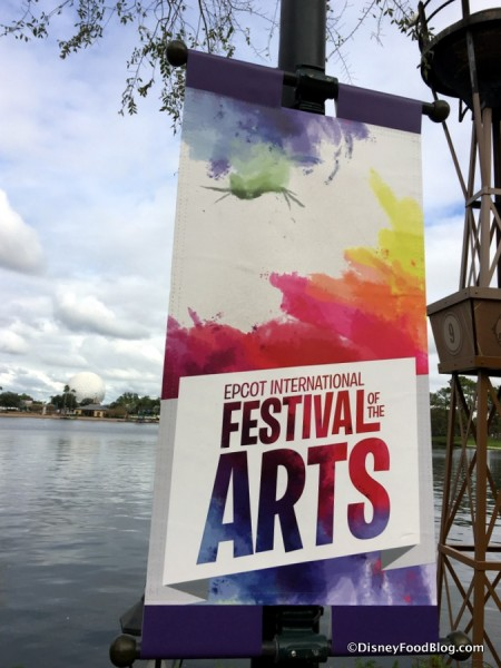 2017 Epcot International Festival of the Arts sign