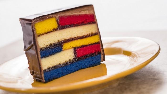 Almond Frangipane Cake layered with Raspberry Jam and Chocolate -- Pop Eats! Food Studio ©Disney