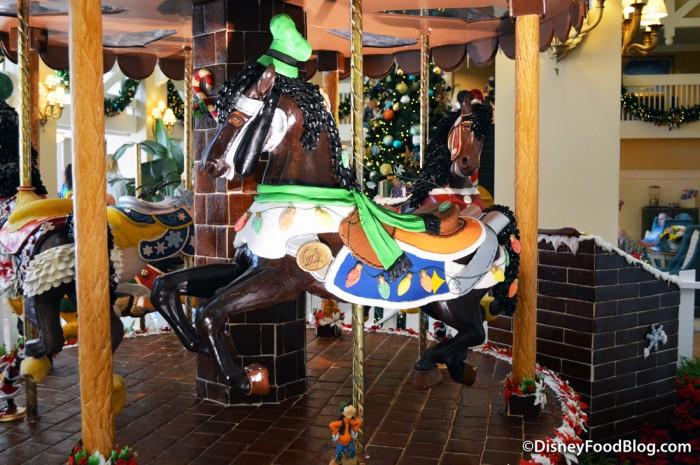 2016 Gingerbread Goofy Carousel Horse