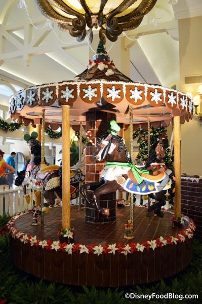 Gingerbread Carousel at the Beach Club
