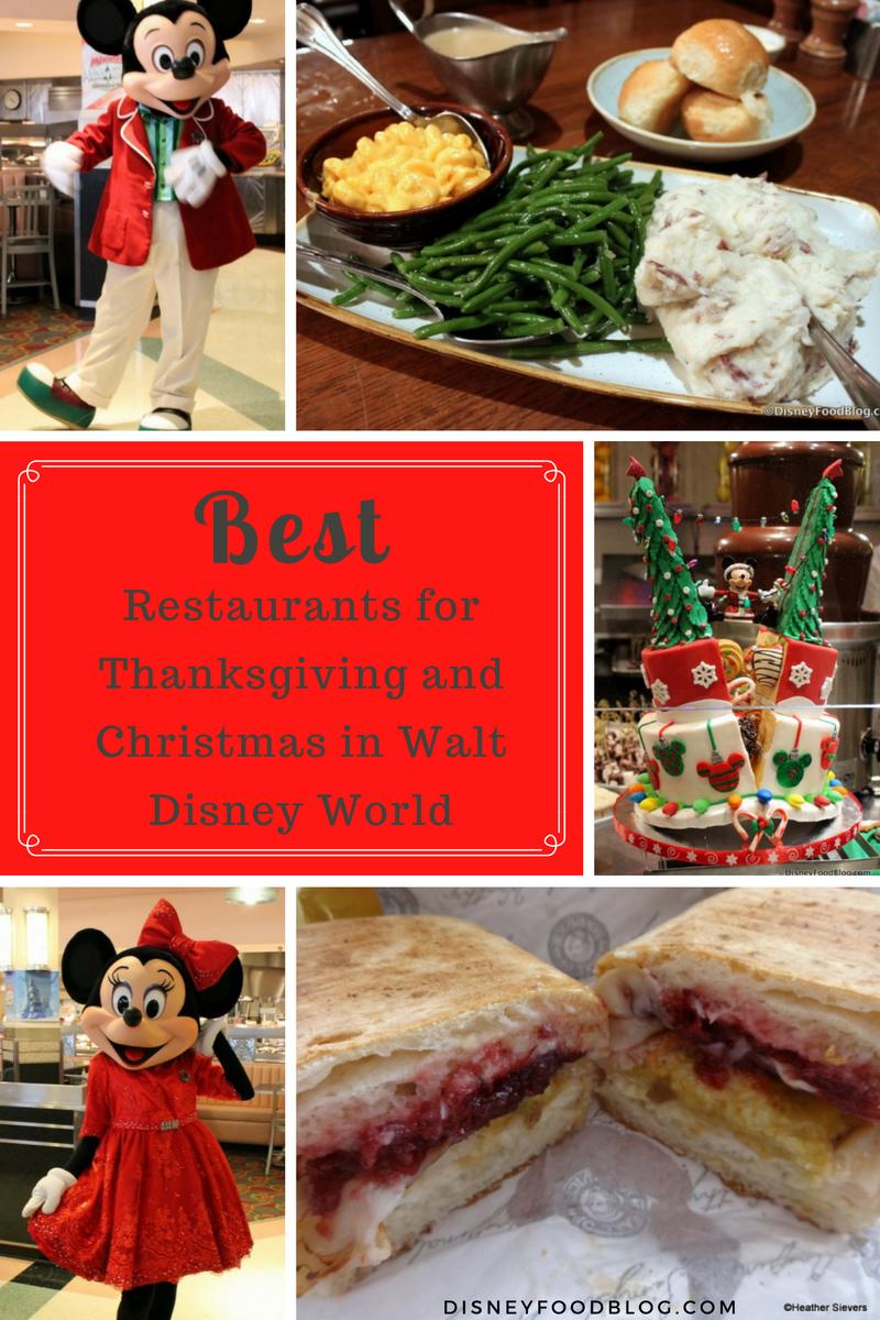 best restaurants for thanksgiving and christmas in walt disney