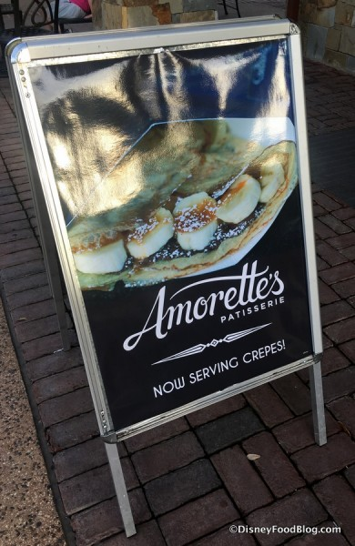 Crepes at Amorette's