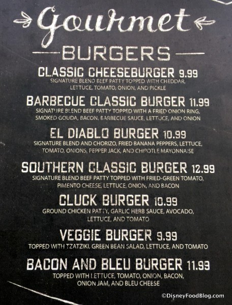 D-Luxe Burger Menu