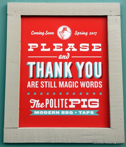 The Polite Pig signs