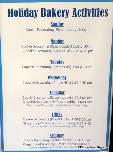 Holiday Baking Activities at the BoardWalk