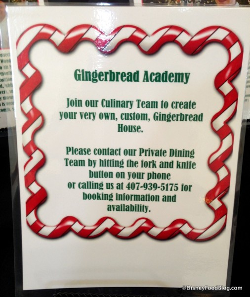 Gingerbread Academy sign