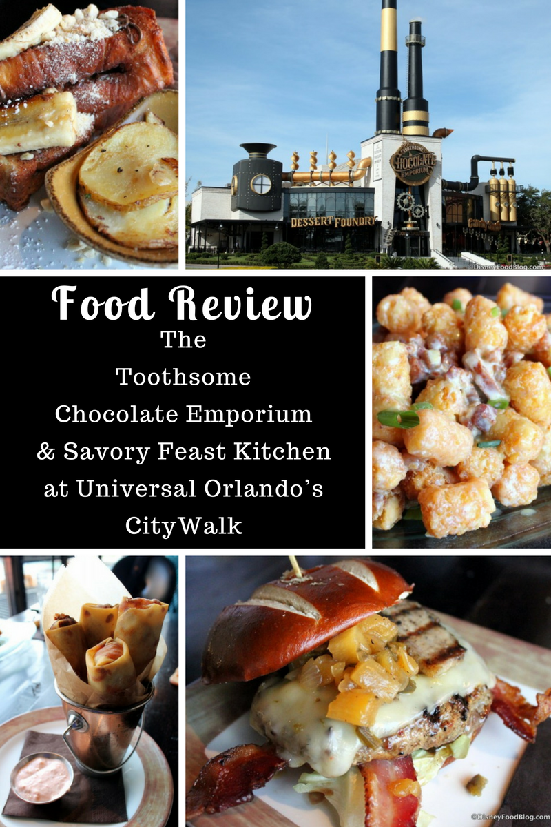 Check out the Disney Food Blog review of The Toothsome Chocolate Emporium & Savory Feast Kitchen at Universal Orlando's CityWalk!