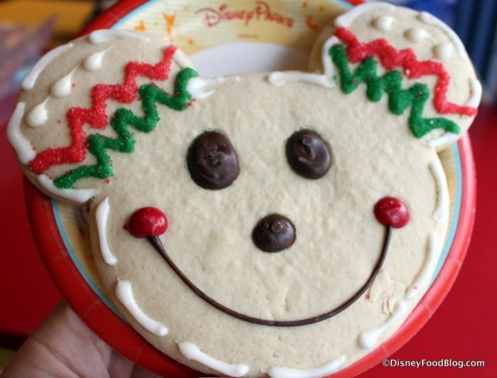 Giant Mickey Christmas Sugar Cookie